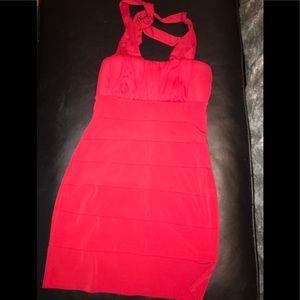 Red Spandex Dinner Dress